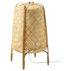 KNIXHULT Staande lamp, bamboe - IKEA Bamboo Lamp, Bamboo Plants, Lohals, Ikea Us, Make A Lamp, Ikea Family, Standard Lamps, Led Lampe, Wood Species