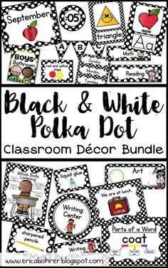I just finished a huge Black and White Polka Dot Decor bundle and thought it would be a great time share some of my black and white po...