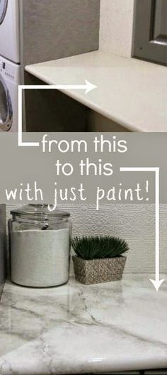 Best DIY Projects: Amazing tutorial -- paint your own faux marble countertops! #remodelaholic