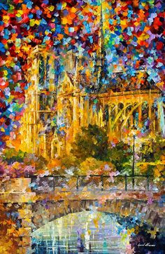 Golden Castle Painting by Leonid Afremov