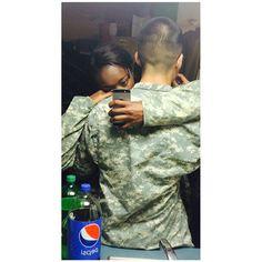 Interracial military couple #love #wmbw #bwwm
