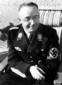 Heinrich Himmler - Reichsführer of the Schutzstaffel (SS) and a leading member of the Nazi Party. Hiroshima, World History, World War Ii, Total War, The Third Reich, Fukushima, Military History, Wwii, Germany