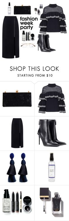 """""""Nocturnal Events"""" by flarewitchproject ❤ liked on Polyvore featuring Jimmy Choo, self-portrait, A.L.C., Alexander Wang, Oscar de la Renta, The Laundress, Bobbi Brown Cosmetics, Ray-Ban and afterparty"""