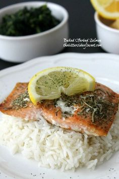 Baked Herbed Salmon Recipe on Yummly. @yummly #recipe #seafood