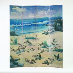 Wayborn Birds on Sandy Beach Room Divider