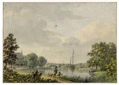 1804. Gezicht op een bocht in de Vecht in de omgeving van Maarssen.