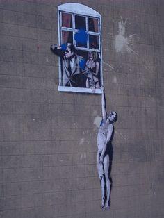 Banksy in Bristol, UK