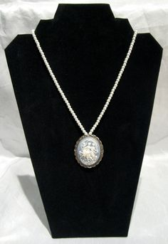 Three Sisters Cameo Necklace by WistfulWhimsyDesigns on Etsy, $13.80