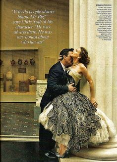 mr. big and carrie bradshaw vogue