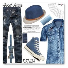 """""""Rosegal"""" by angelstar92 ❤ liked on Polyvore featuring Converse, Floris, men's fashion and menswear"""