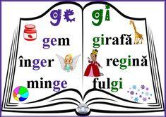 Grupurile de litere ce, ci, ge, gi, che, chi, ghe, ghi - planșe de afișat în clasă Math For Kids, Kids Education, Coloring Pages, Homeschool, Playing Cards, Teaching, Activities, Google, Giraffe Illustration