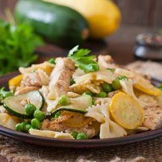 Lemon Chicken and Squash Pasta