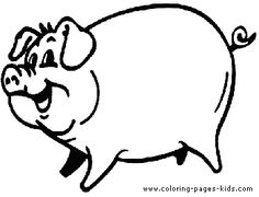Free Printable Pig Coloring Pages For Kids Kindergarten