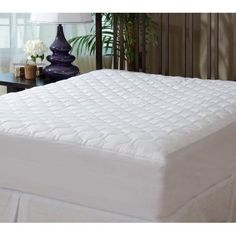 Fitted Quilted Mattress Pad Queen Size Bed Protector Stretchable Deep Pockets #MASTERTEX