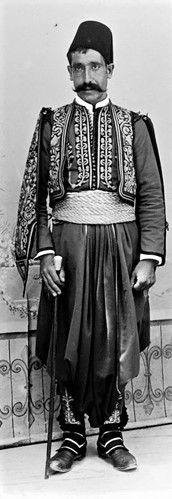 A 'Kavas' (guard).  Libanon, early 20th century.
