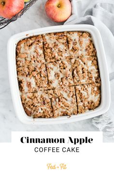 This moist, tender Apple Coffee Cake is filled with warm, comforting spices, apples, and pecans for a delicious, fall-inspired take on classic coffee cake. Easy Gluten Free Desserts, Gluten Free Snacks, Gluten Free Cakes, Gluten Free Baking, Fed And Fit, Apple Coffee Cakes, Streusel Topping, Spiced Apples, Pecans