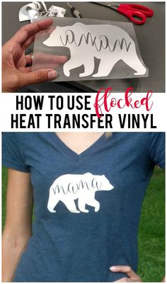 To Use Flocked Heat Transfer Vinyl {Tips from a Beginner} Save time and learn tips from a beginner user of flocked heat transfer vinyl.Save time and learn tips from a beginner user of flocked heat transfer vinyl. Inkscape Tutorials, Cricut Tutorials, Cricut Ideas, Cricut Vinyl, Vinyl Crafts, Vinyl Projects, Shilouette Cameo, Stencils, Circuit Projects