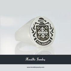 Villarreal family crest jewelry