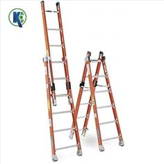 kijeka Combination Ladders are self supporting and wall extension ladder in a single ladder. so its cover double hight to reach out high. #ladder #aluminiumladder #kijeka
