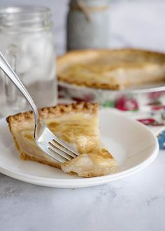 Water Pie is a depression era recipe that turns the simplest of ingredients into a delicious buttery pie! The primary ingredient is WATER! Water Pie Recipe, Custard Pie Recipe Easy, Crust Recipe, Pie Dessert, Dessert Recipes, Depression Era Recipes, Cream Pie Recipes, Homemade Pie Crusts, Other Recipes