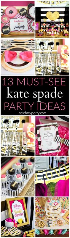 Kate Spade party ideas | Catchmyparty.com