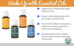 Wake Up with Essential Oils! Oils to help get you out of bed