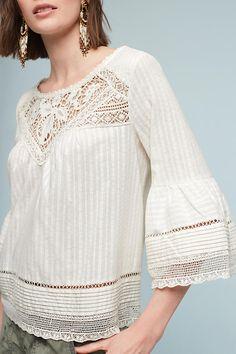 Priscilla Bell-Sleeve Blouse