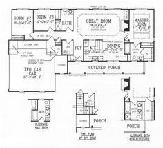 Simple house plans with great room 1500 sq ft house for Thehousedesigners com home plans