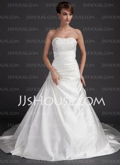 Wedding Dresses - $162.89 - A-Line/Princess Sweetheart Chapel Train Satin Wedding Dresses With Embroidery Ruffle Beadwork (002012055) http://jjshouse.com/A-line-Princess-Sweetheart-Chapel-Train-Satin-Wedding-Dresses-With-Embroidery-Ruffle-Beadwork-002012055-g12055