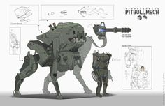 ArtStation - PITBULLMECH, Spark Warrgon
