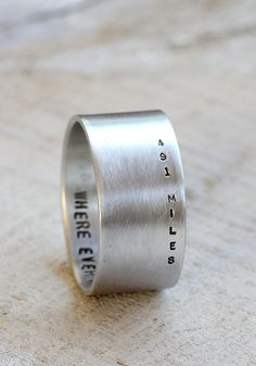 Long distance relationship ring from Praxis Jewelry