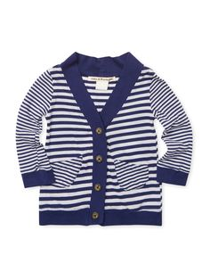 Apache Stripe Cardigan from Casual Prep for Boys Feat. Fred Perry on Gilt