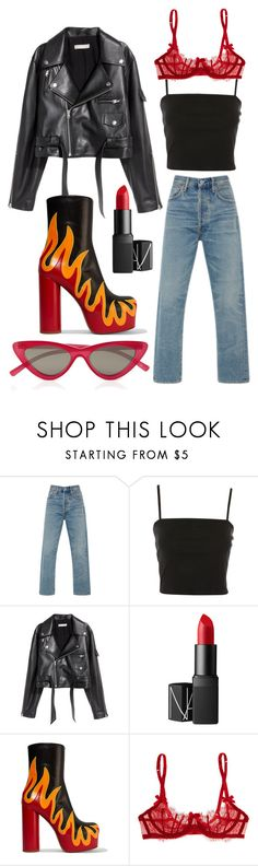 """Untitled #284"" by stoutjami on Polyvore featuring Citizens of Humanity, Topshop, SKINN, NARS Cosmetics, Vetements, L'Agent By Agent Provocateur and Le Specs"