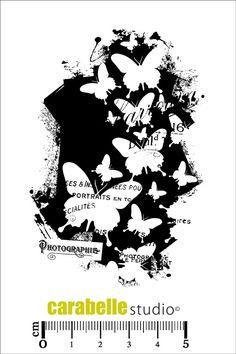 Tampon : Background Papillon - Art Stamp