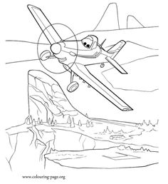Dusty Crophopper is a single-propeller plane from Propwash Junction. Come check out and have fun coloring this beautiful sheet from the Planes Disney's film!