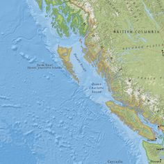 M6.2 - 182km WSW of Bella Bella, Canada Map showing extent (w,s,e,n) = (-135.6951, 46.7685, -125.6951, 56.7685)