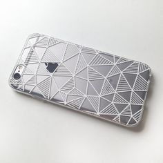 Geometric iPhone 6s Case Clear iPhone 6 case iPhone 6 6S Rose Gold Case Silver Abstract iPhone 6 Case Grid iPhone 6s Case Transparent…