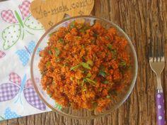 Antakya Usulü Kısır Resimli Tarifi - Yemek Tarifleri Looks Yummy, Salads, Curry, Good Food, Pasta, Ethnic Recipes, Bulgur, Curries, Healthy Food