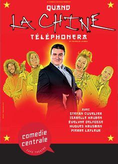 Quand La Chine Téléphonera - avec Stefan Cuvelier Café Theatre, Movies, Movie Posters, China, Hoods, Films, Film Poster, Cinema, Movie
