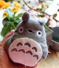 Lovely Fuzzy TOTORO Coin Purse - Wallets