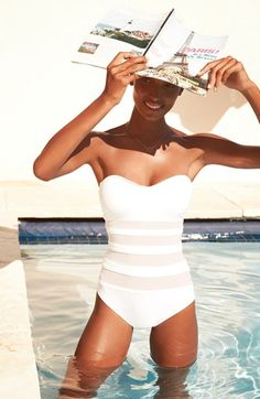 La Blanca Mesh Strapless One-Piece Bandeau Swimsuit | Nordstrom.  Would like this suit, and body!