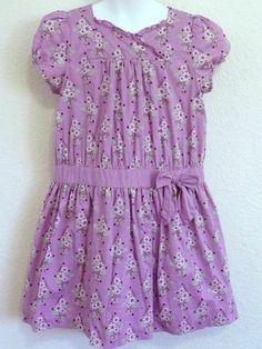 Janie and Jack Orchard Harvest Dress Sz 7 Girls Lavender Floral S/S