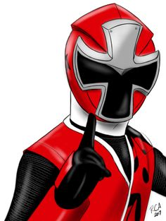 I finally done it! My artwork of the Red Ranger from Power Rangers Ninja Steel. I have finished drawing the team. (C) SCG Power Rangers