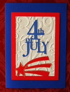 Capadia Designs: Fourth of July Cards (Stand and Salute)