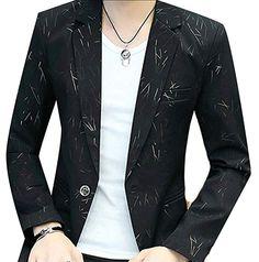 88e8b689a9d  Affiliate  Generic Men s Long Sleeve Slim Fit Business One Button Suits  Jackets Black L