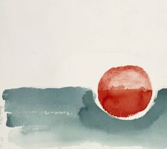 Georgia O'Keeffe. Untitled (Abstraction Green Line and Red Circle) - 1979