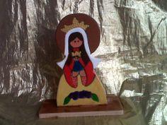 Virgen Coromoto en madera