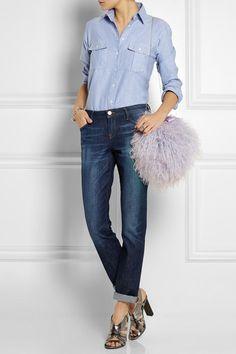 Giant lilac sheepskin pompom bag - need it!