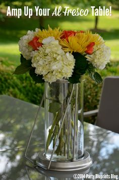 Easy DIY Summer Floral Centerpiece