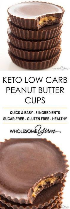 Sugar-Free Keto Peanut Butter Cups Recipe – 5 Ingredients - These sugar-free keto peanut butter cups are just like real ones! You'll love this easy low carb peanut butter cup recipe made with 5 ingredients.